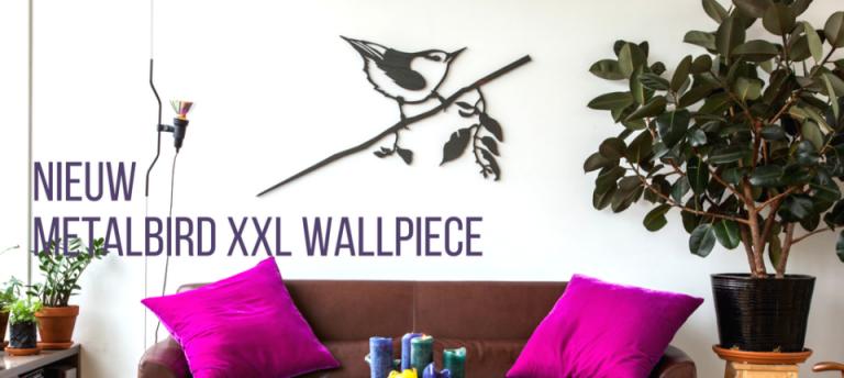 Vogels aan de muur | Metalbird