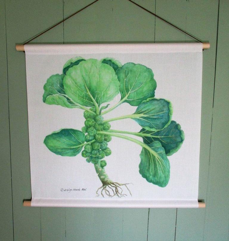 Woonaccessoires met opdruk groenten   Geïllustreerd en ontworpen door Marie Mul onder het label Colour & Pencil